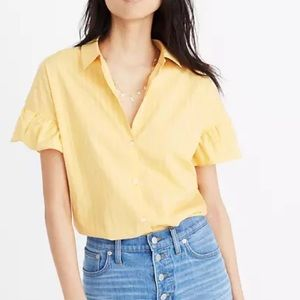 Madewell Central Ruffle Sleeve Top